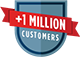 AHS 1+ Million Customers shield
